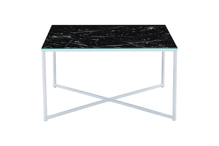 Sohvapöytä Valeria - Valkoinen/Musta - Huonekalut - Pöydät - Sohvapöydät