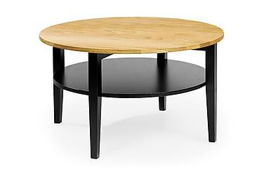 Sohvapöytä Vanstad 80 cm Pyöreä Tammi/Musta