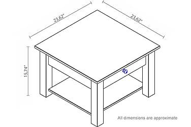 Sohvapöytä Yamina 60 cm
