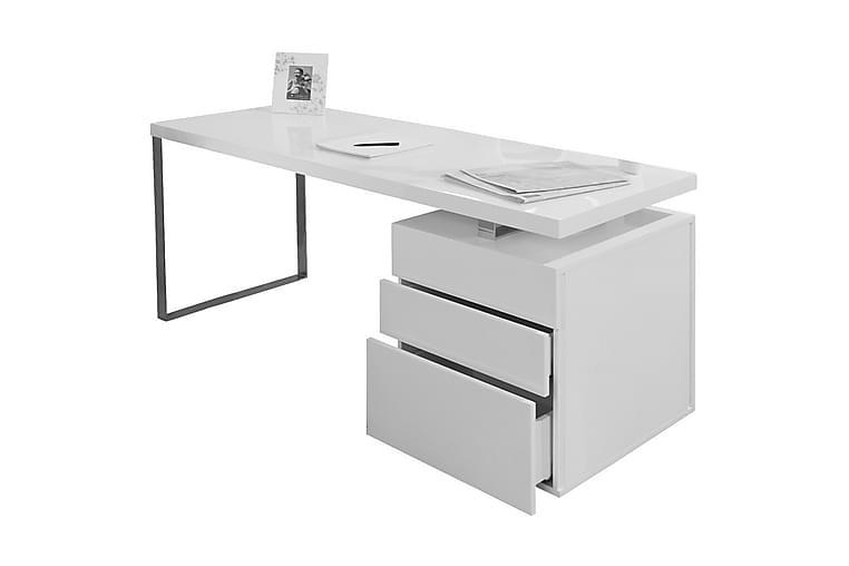 Kirjoituspöytä 140x70x76 cm valkoinen - Huonekalut - Pöydät - Kirjoituspöydät