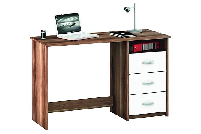 Kirjoituspöytä Arnea 123 cm - Ruskea/Valkoinen - Huonekalut - Pöydät - Kirjoituspöydät