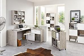 Kirjoituspöytä Cambara Hiekkatammi/Valkoinen