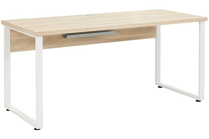 Kirjoituspöytä Heiden 160 cm - Ruskea/Platinanharmaa - Huonekalut - Pöydät - Kirjoituspöydät