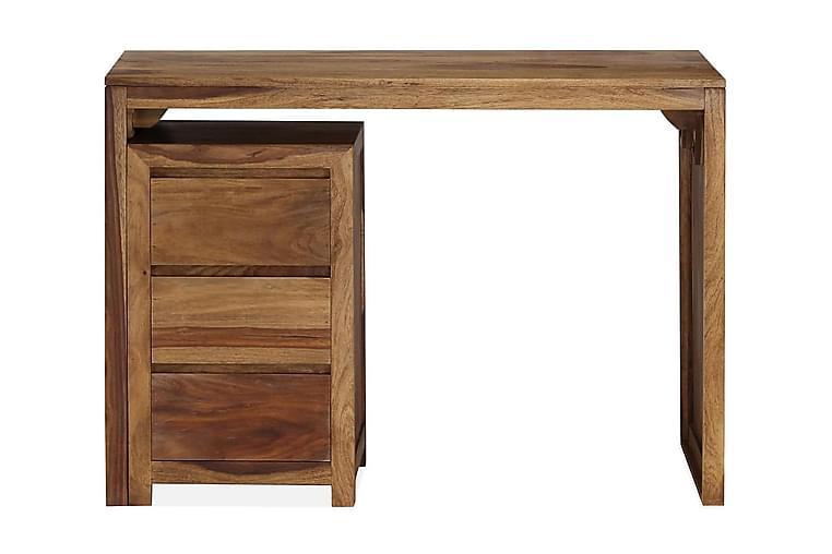 Kirjoituspöytä seesampuu 110x55x76 cm - Ruskea - Huonekalut - Pöydät - Kirjoituspöydät