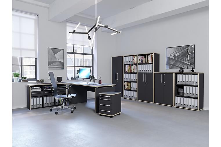 Kirjoituspöytäkokonaisuus Kjersti 123 cm - Antrasiitti - Huonekalut - Pöydät - Kirjoituspöydät