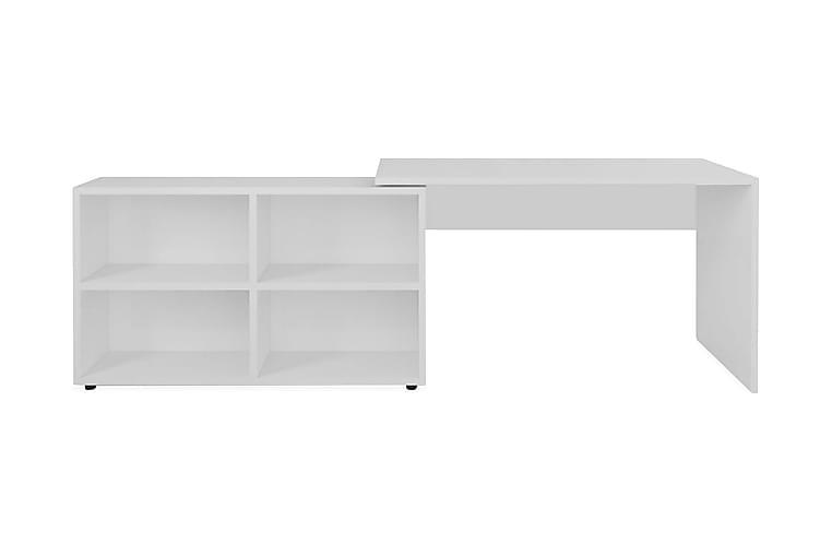 Kulmapöytä 4 hyllyllä Valkoinen - Valkoinen - Huonekalut - Pöydät - Kirjoituspöydät