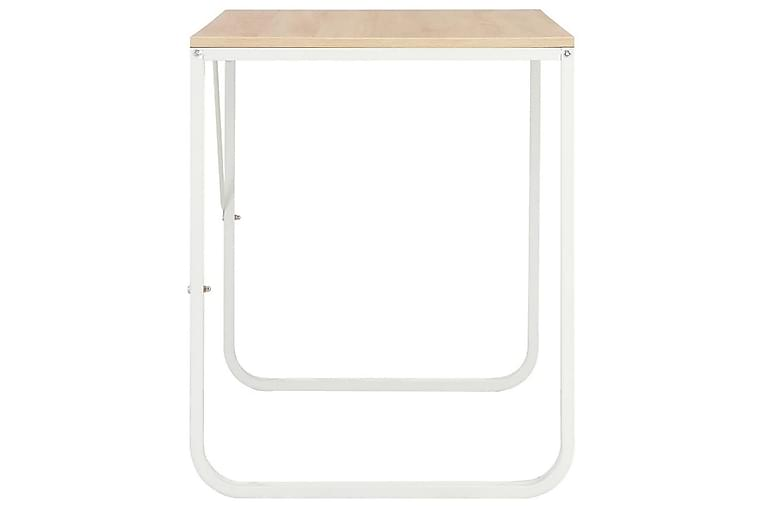 Tietokonepöytä valkoinen ja tammi 120x60x73 cm - Valkoinen - Huonekalut - Pöydät - Kirjoituspöydät