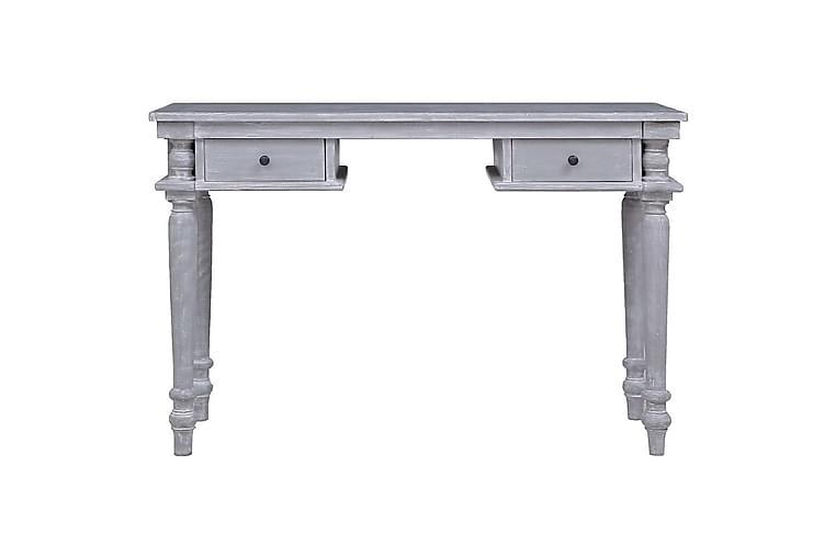 Työpöytä 120x50x78 cm täysi mahonki - Harmaa - Huonekalut - Pöydät - Kirjoituspöydät