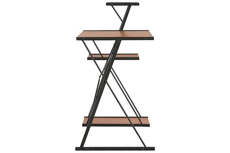 Työpöytä hyllyllä musta ja ruskea 116x50x93 cm - Musta - Huonekalut - Pöydät - Kirjoituspöydät