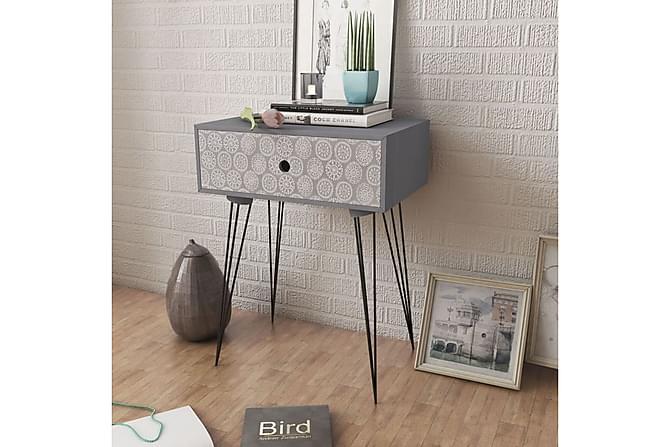 Yöpöydät vetolaatikolla 2 kpl harmaa - Harmaa - Huonekalut - Pöydät - Yöpöydät