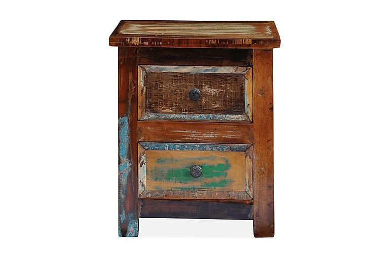 Yöpöytä 2 vetolaatikolla Kierrätetty puu - Ruskea - Huonekalut - Pöydät - Yöpöydät