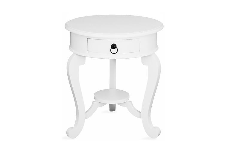 Yöpöytä Beatrice Pyöreä - Valkoinen - Huonekalut - Pöydät - Yöpöydät