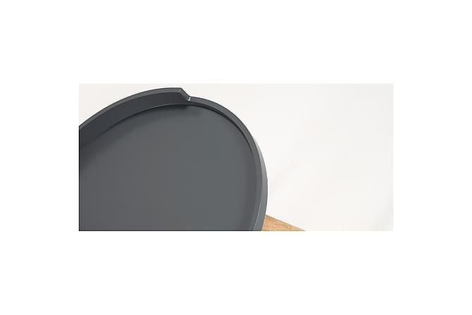 Yöpöytä Bruk 46 cm Pyöreä - Harmaa - Huonekalut - Pöydät - Yöpöydät