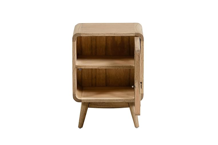 Yöpöytä Dehiba 40x30 cm - Puu / Rottinki / Ruskea - Huonekalut - Pöydät - Yöpöydät