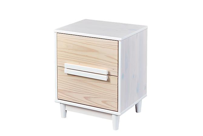 Yöpöytä Ebbo 48 cm 2 laatikolla - Valkoinen - Huonekalut - Pöydät - Yöpöydät
