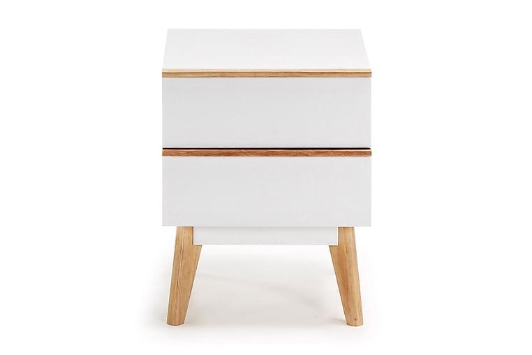 Yöpöytä Fairlop 40x42,5 cm - Matta valkoinen - Huonekalut - Pöydät - Yöpöydät