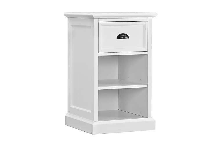 Yöpöytä Hampton 1 laatikolla+hyllyllä Valkoinen - Huonekalut - Pöydät - Yöpöydät