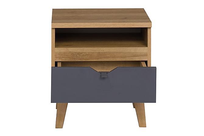 Yöpöytä Lyseme - Puu/Harmaa - Huonekalut - Pöydät - Yöpöydät