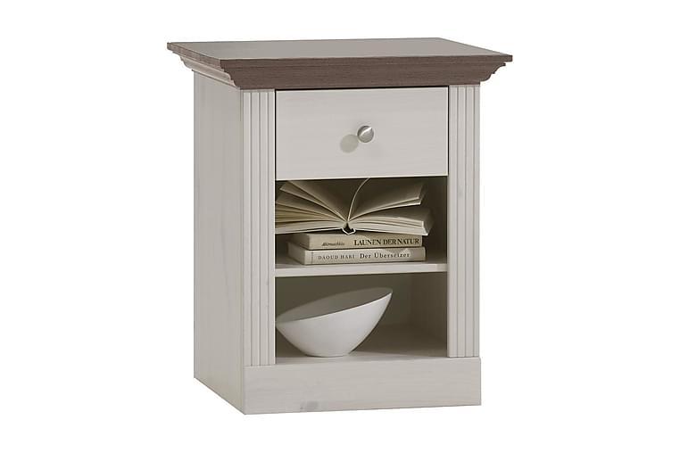 Yöpöytä Seattle 56 cm - Valkoinen/Ruskea - Huonekalut - Pöydät - Yöpöydät