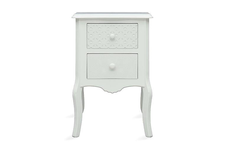 Yöpöytä valkoinen 43x32x65 cm MDF - Valkoinen - Huonekalut - Pöydät - Yöpöydät