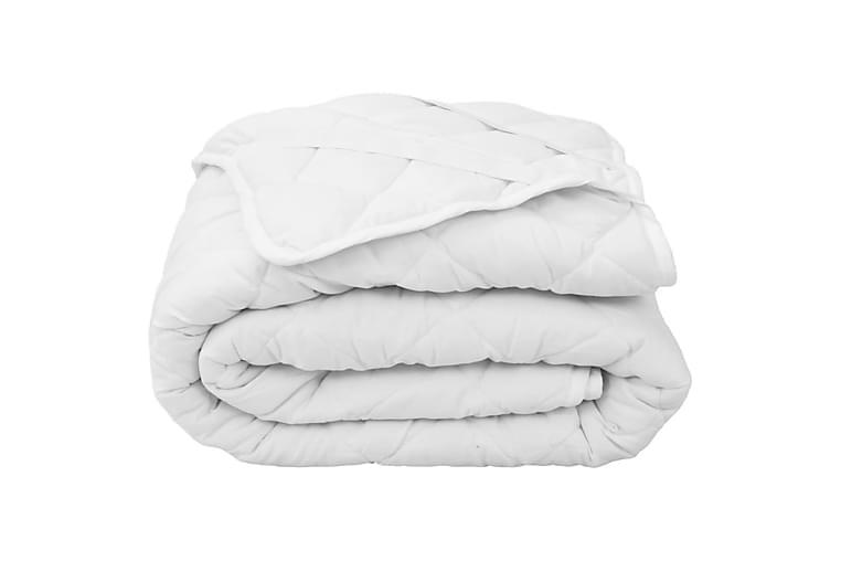 Topattu patjansuojus valkoinen 160x200 cm kevyt - Valkoinen - Sisustustuotteet - Kodintekstiilit - Vuodevaatteet