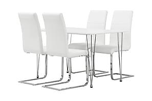 KRONBERG Pöytä 120 + 4 EMÅN tuolia Valk