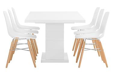 Pöytä 180 Griffith Valk + 6 Wasosky tuolia Valk