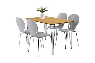 Pöytä Elisha 120 cm Luonnonväri / Kromi / Harmaa