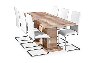 Pöytä Fabius 160 Villitammi +  6 Phoenix Tuolia Valkoinen