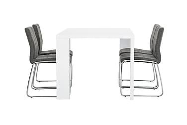 Pöytä Fiorenza 140 Valk + 4 Viskan tuolia Harmaa