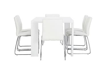 Pöytä Fiorenza 160 Valk + 6 Viskan tuolia Valk