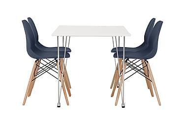 Pöytä Martian 120 Mattavalk + 4 Rana tuolia T.sin