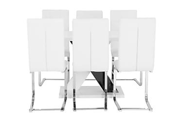 Pöytä Mendoza 140 + 6 Arvån tuolia Valk