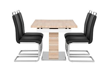 Pöytä Mueller 140 Ek/Valk + 4 Robledo tuolia Musta