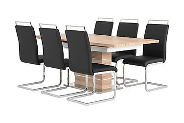 Pöytä Mueller 140 Ek/Valk + 6 Robledo tuolia Musta
