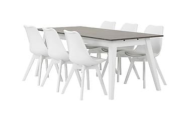 Pöytä Skymning 190 cm Betoni/valkoinen
