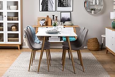Pöytä Tommy 120 cm Tammi/Valkoinen