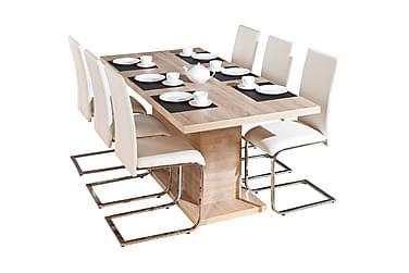 Ruokailuryhmä Absoluto Jatkettava 160 cm 4 Mucura tuolilla