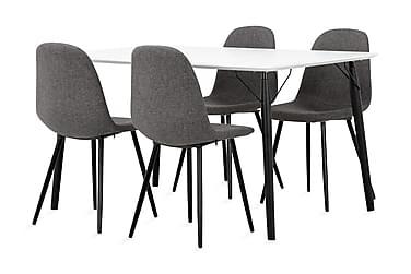 Ruokailuryhmä Allport 140 cm + 4 Naira tuolia