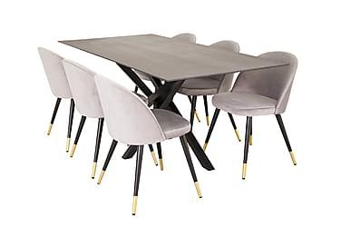 Ruokailuryhmä Arnulf 180 cm 6 Luisa tuolilla