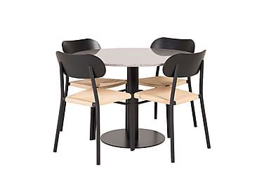Ruokailuryhmä Chantor 106 cm 4 Hubert tuolia