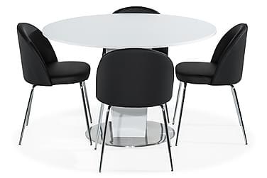 Ruokailuryhmä Cubic 120 cm 4 Felipe tuolilla Keinonahka
