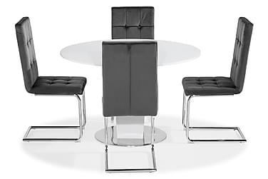 Ruokailuryhmä Cubic 120 cm 4 Jessed tuolilla