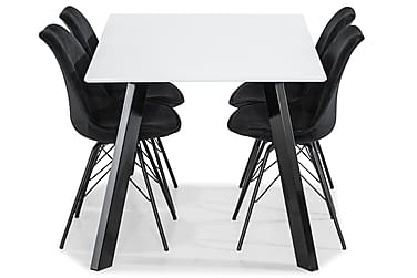 Ruokailuryhmä Eli 150 cm 4 Scale tuolilla Sametti