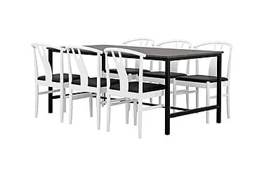 Ruokailuryhmä Evo 180 cm Betoni/Musta/valkoinen
