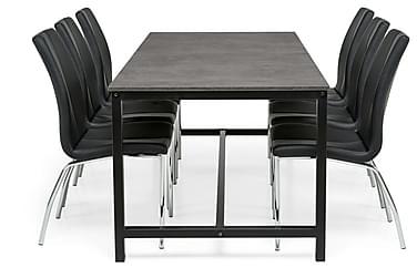 Ruokailuryhmä Evo 180x90cm 6 Dion tuolilla