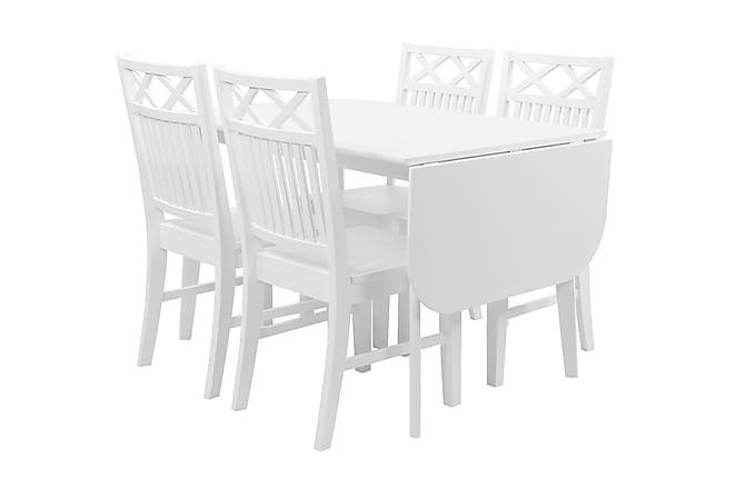 Ruokailuryhmä Frenda 4 Julio tuolilla - Valkoinen - Huonekalut - Ruokailuryhmät - Kulmikas ruokailuryhmä