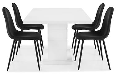 Ruokailuryhmä Griffith 160x40 cm Valkoinen/Musta