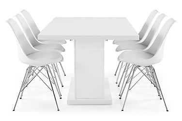 Ruokailuryhmä Griffith 180x40 cm Valkoinen/Kromi