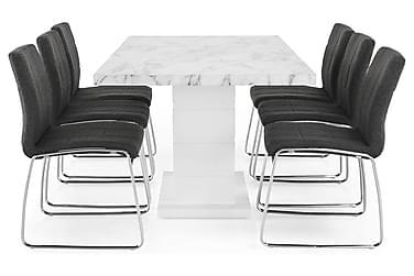 Ruokailuryhmä Griffith Jatkettava 180 cm 6 Mucura tuolia
